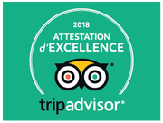 TripAdvisor : Attestation d'Excellence 2018